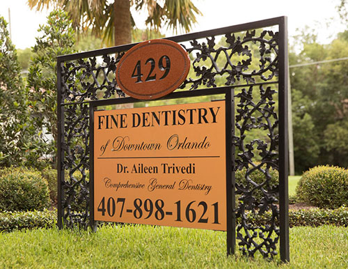 Fine Dentistry of Downtown Orlando Sign
